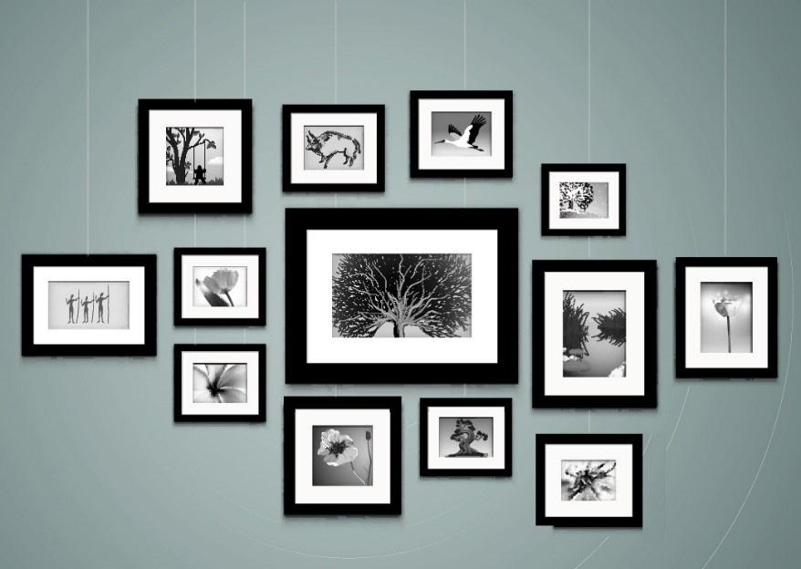 A képfüggesztő rendszer segítségével a képek elhelyezése a falon nagyon egyszerű megoldás.