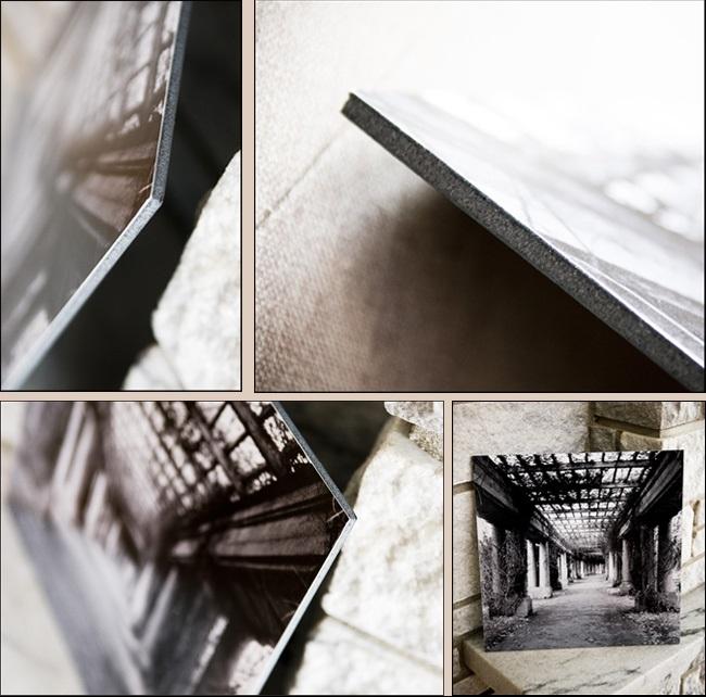 Fekete színű 5 milliméter vastag habosított kartonra történt kasírozás bemutatása több szemszögből.