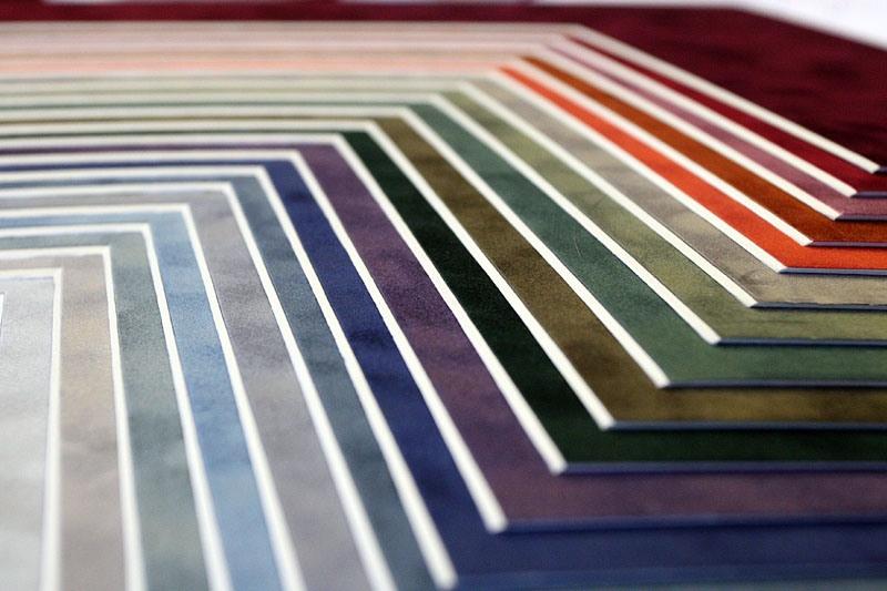 Paszpartu mintasarkok lépcsőzetes bemutatása színek szerint.